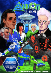 The cover of Ammon Walker by Aaron D'Errico and Addison Rankin. Ammon Walker created written and designed by Aaron D'Errico.