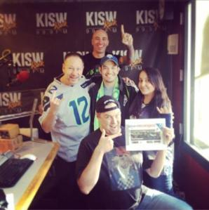 With the Geek Nation crew on KISW, talking about Ammon Walker