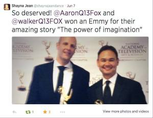 Power of Imagination Emmy tweet