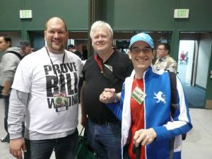 Ross Richie, Paul Chadwick and me at The Emerald City Comic Convention 2010 in Seattle
