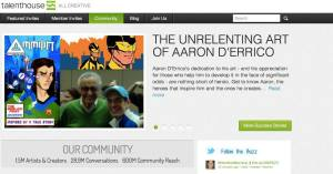 The Unrelenting Aaron D'Errico Talenthouse banner